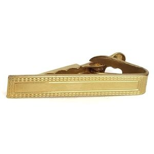 Vintage 60s Gold Plated Tie Bar Clip